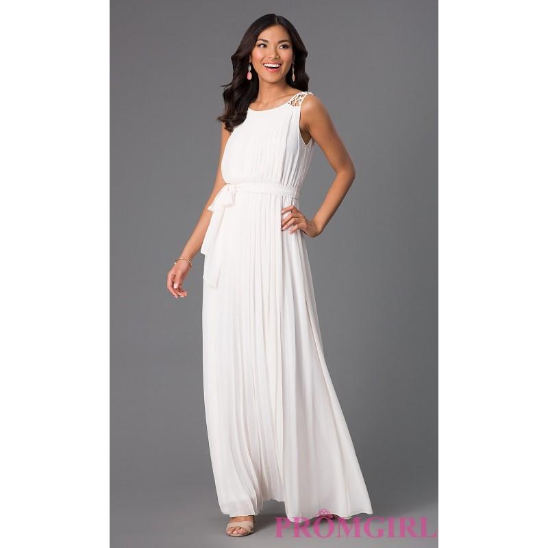Pleated Floor Length Sleeveless Dress By Jessica Simpson - Brand ...