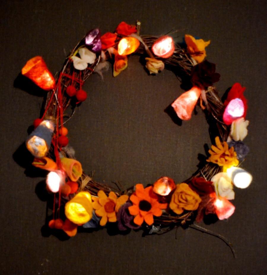 lightup wreath light up wreath christmas wreath xmas wreath holiday wreath battery operated