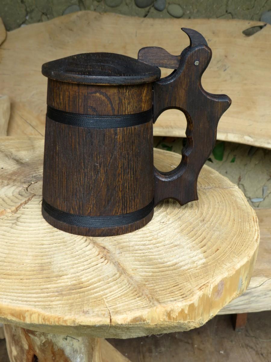 Wedding - Mens Gift, Wooden Beer Mug, Oak Wood Jug, Beer Tankard, Gift for Men, Stein For Beer Lovers, Rustic Decor, Wood Beer Stein, Groomsmen Gift