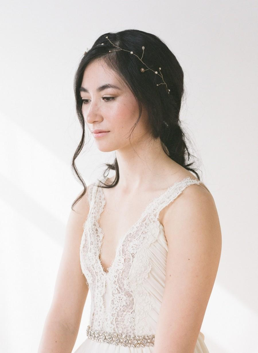 Mariage - Grace // Headpiece With Crystals and Pearls