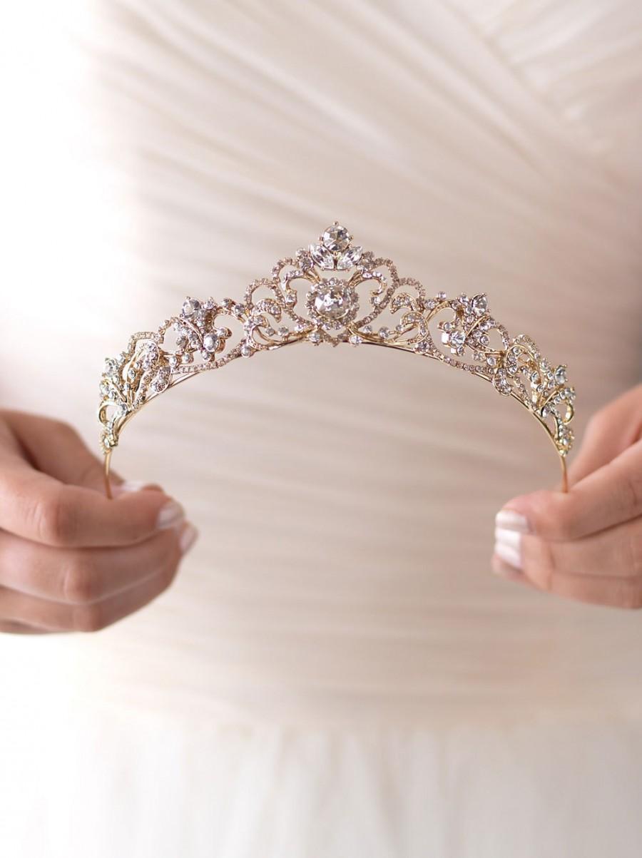 تيجان ملكية  امبراطورية فاخرة Gold-rhinestone-wedding-tiara-royal-bridal-crown-gold-princess-crown-princess-tiara-gold-bridal-tiara-gold-tiara-gold-crown-ti-3157-g