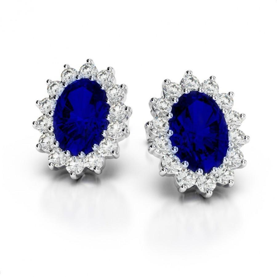 8x6mm Oval Shire Diamond Stud Earrings Raven Fine Jewelers