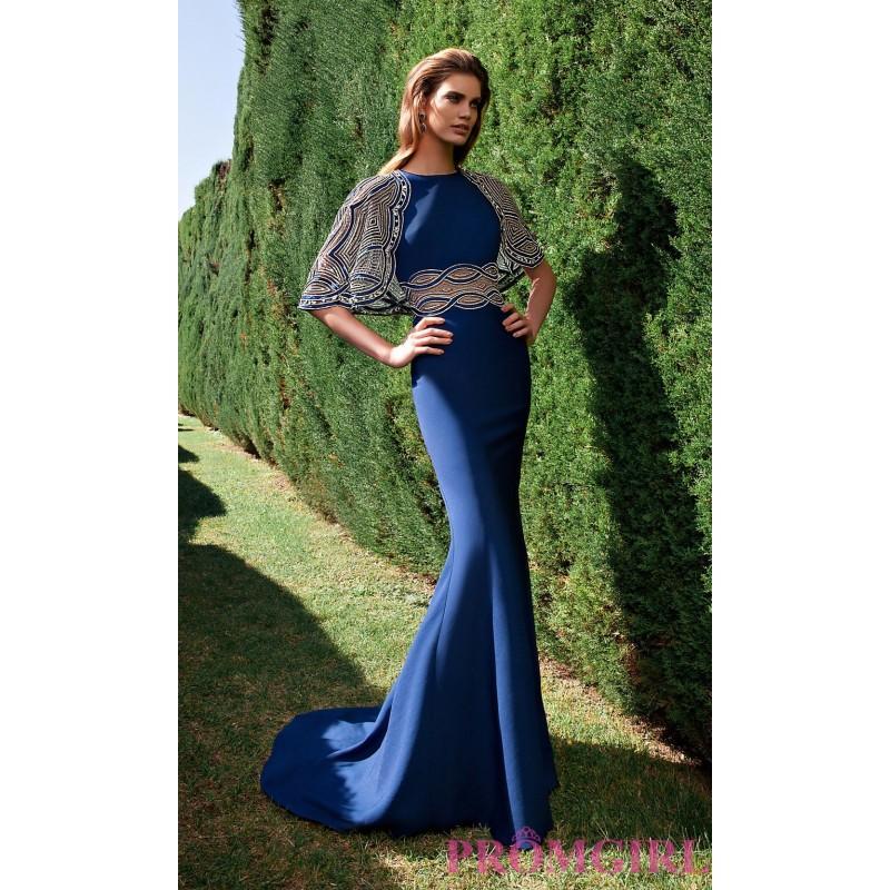Hochzeit - Long High Neck Tarik Ediz Evening Dress - Discount Evening Dresses