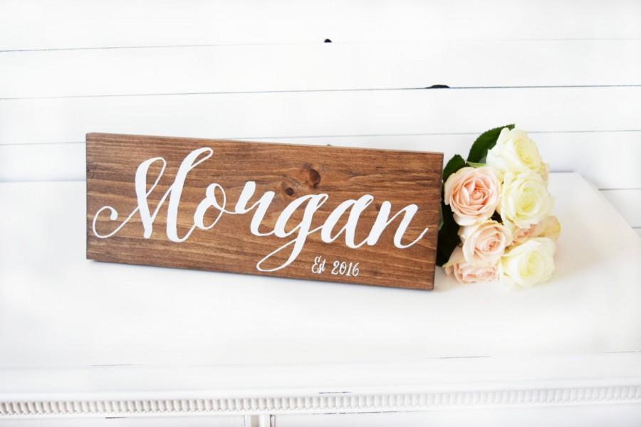 Hochzeit - Last Name Sign- Established Sign- Wedding Date Sign- Bridal Shower Gift- Wedding Gift- Custom Wedding Signs- Rustic Wedding- Boho Wedding