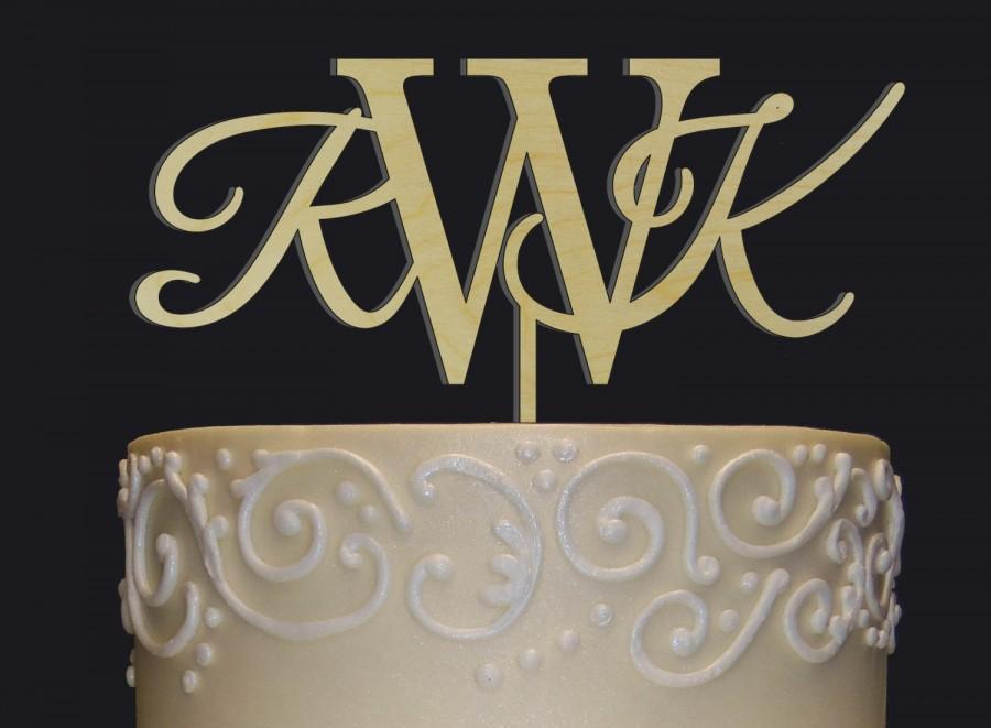 Mariage - Rustic Wedding Cake Topper - Personalized Monogram Cake Topper - Mr  Mrs Cake Topper - Keepsake Wedding Cake Topper