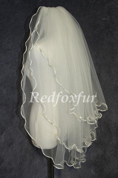 Mariage - 3 Tier Bridal veil,crimping wedding veil,Wedding Accessories,With comb