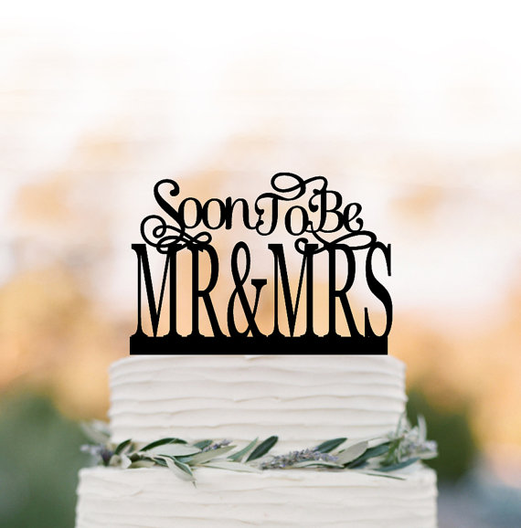 Mariage - Bridal Shower cake topper, party Cake decor, Soon to be Mr and Mrs cake topper, unique cake topper for wedding, engagement party