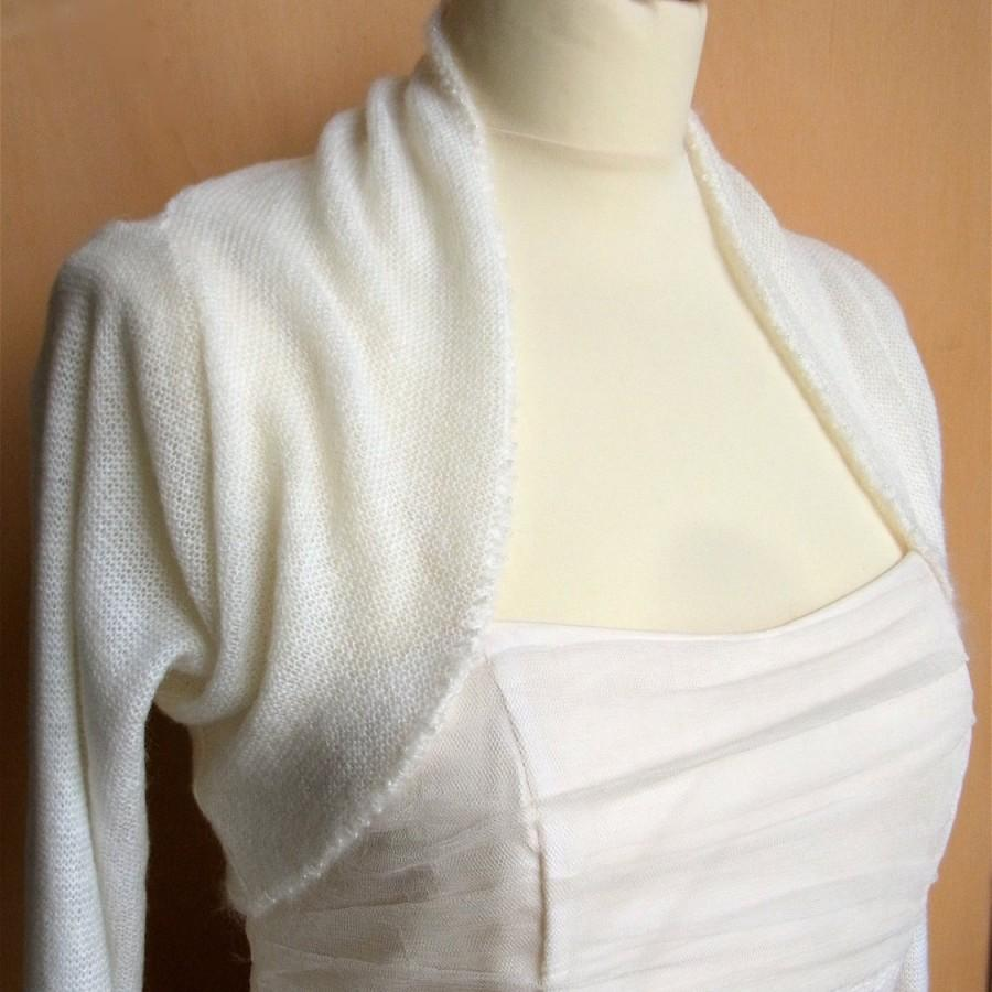 Mariage - bridal bolero mohair with pearls