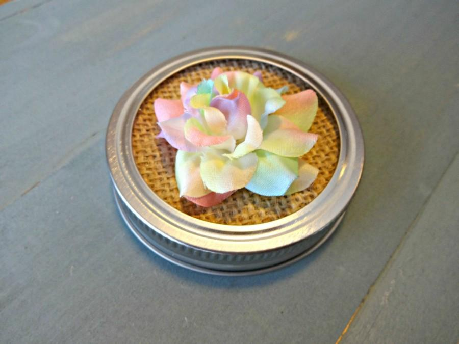 Unisex Baby Shower Favors, Decorative Mason Jar Lid, Multi Color  Centerpiece, Rainbow Wedding, Burlap Mason Jar Lid Insert, Wide Mouth Lid