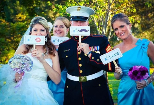 Свадьба - Set of 6 - Double Sided Wedding Engagement MINI Photo Booth Prop Signs- aka.perty.ful.tings