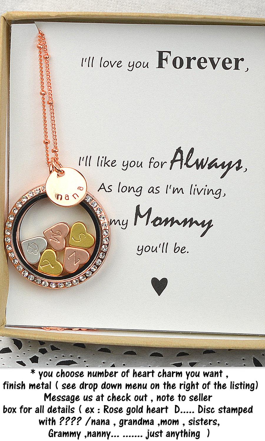 Christmas Gift From Son Daughter For Mom Personalized Initials Custom Birthday Jewelry MomWifeGrandmaSister Best Friend