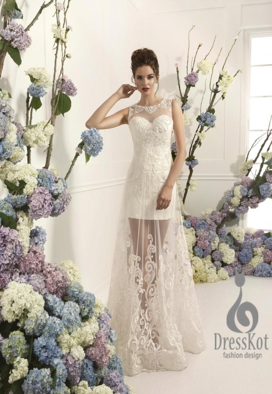 Свадьба - Lace wedding dress, long wedding dress, romantiс wedding dress, vintage wedding dress