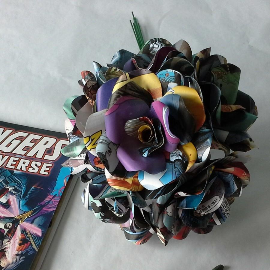 Comic Book Paper Roses Paper Flowers Roses Marvel Or Dc Comic Books