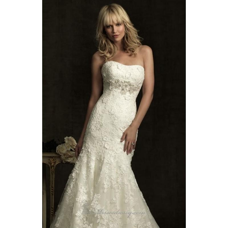 Strapless organza gown by allure bridals 8913 dress for Cheap allure wedding dresses