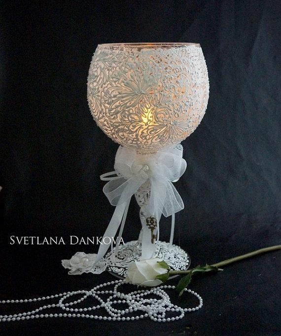 Hochzeit - Wedding, Wedding Candles, Candle Holder, Baby Shower, Wedding Decoration, Ceremony Candles