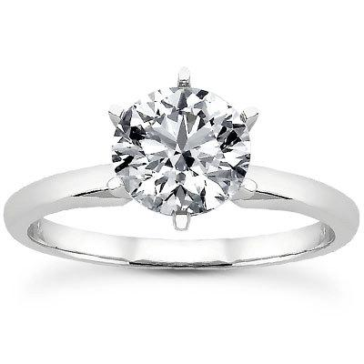 Hochzeit - 2.00 Carat Forever Brilliant Moissanite Engagement Ring Round Solitaire Engagement Ring FREE SHIPPING!!!!!!