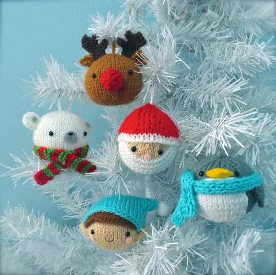 Amigurumi Knit Christmas Balls Ornament Pattern Set ...