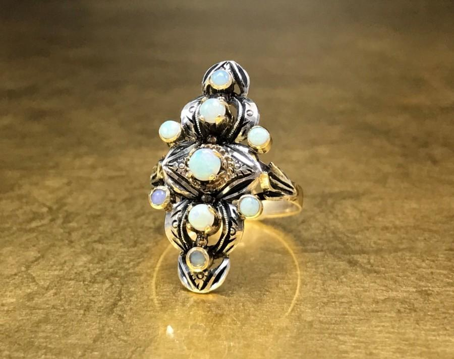 Mariage - Gold Opal Ring