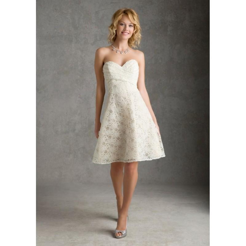 Wedding - Mori Lee 31034 Short Lace Bridesmaids Dress - Crazy Sale Bridal Dresses