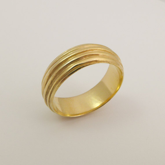 3426e9a39670f7 14 karat solid gold round ring, Yellow gold wedding band, Handmade gold  wedding ring, Wide wedding band for woman, Unique Gold wires ring