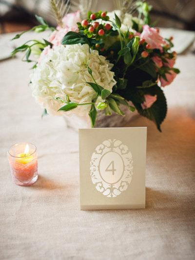 Oval Cameo Wedding Table Number Luminaries As Seen On Style Me - Wedding table tents