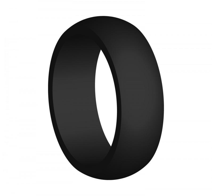 men 39 s black silicone wedding engagement ring band medical