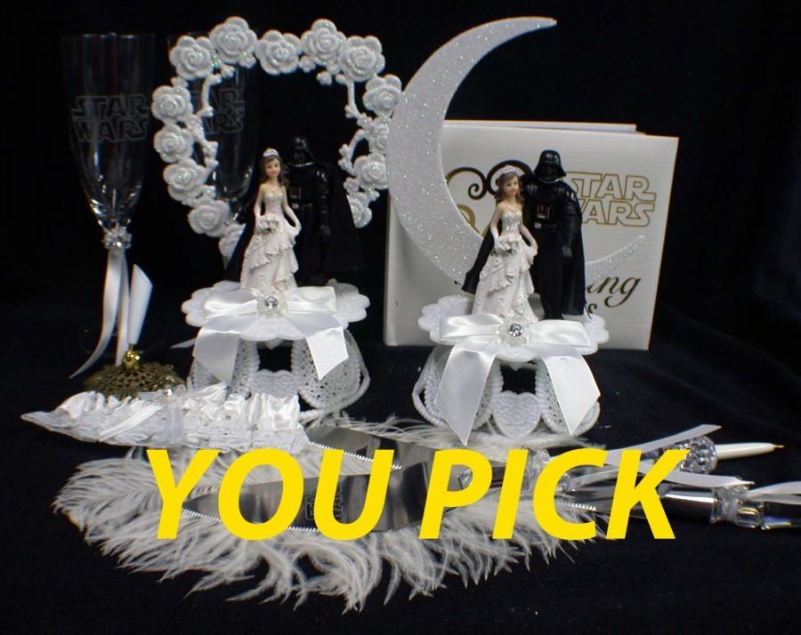 Свадьба - Darth Vader Star War U PICK Wedding Cake Topper, Glasses Knife Server, BOOK
