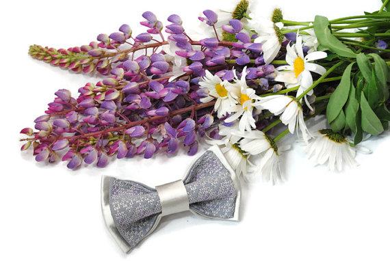 Wedding - Wedding bow tie Bowtie for men Lavender wedding Groom's necktie Groomsmen ties Men's bow ties Christening boy's outfit Satin 7Accessories482