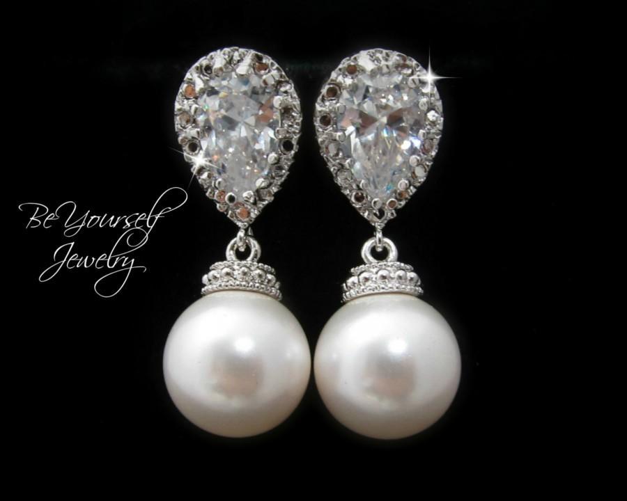 Wedding Earrings Pearl Bridal Earrings Bride Earrings Wedding