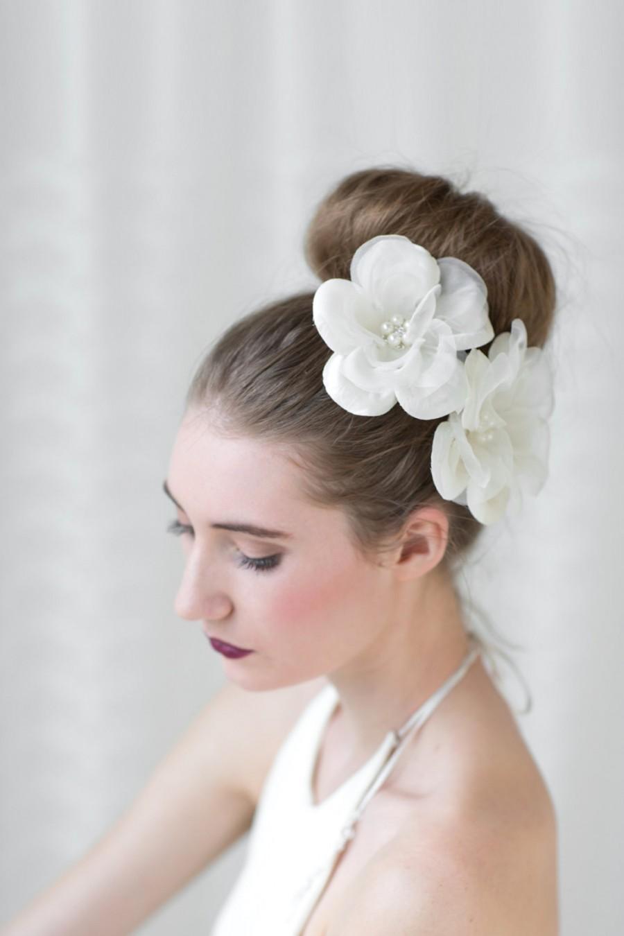 Bridal Flower Hair Clips Wedding Silk Hair Flowers Wedding
