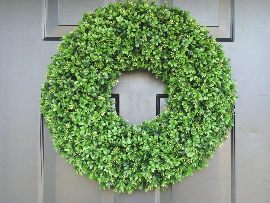 Xl Artificial Boxwood Wedding Wreath Wedding Decoration Wedding