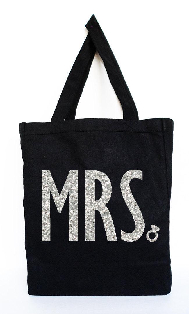 Свадьба - MRS Bride Tote  - Bridal Tote, Bridal Bag, Wedding Bag, Bridal Gift, MRS, Wedding, Bride