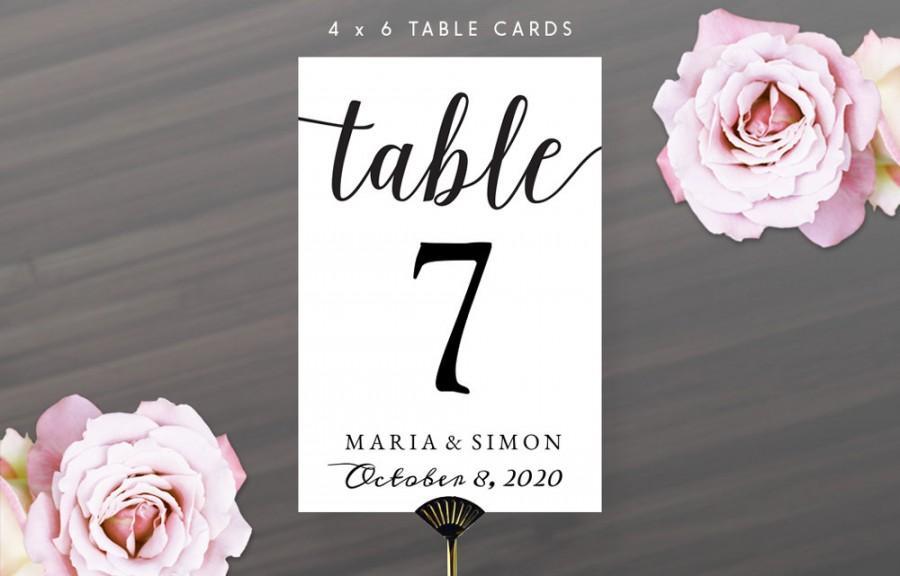 Wedding - Printable DIY Table Number Cards 4X6