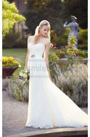 Essense of australia a line lace wedding dress style A line lace wedding dress australia