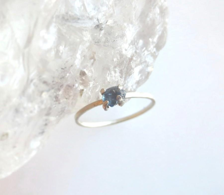Wedding - Sapphire Ring, Rough Stone Ring, Alternative Engagement Ring, Raw Stone Ring, Gold Nugget Ring, Made To Order Size 4 through Size 10