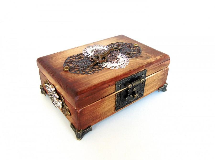 Nautical Jewelry Box Pirate Treasure Chest Anchor Octopus
