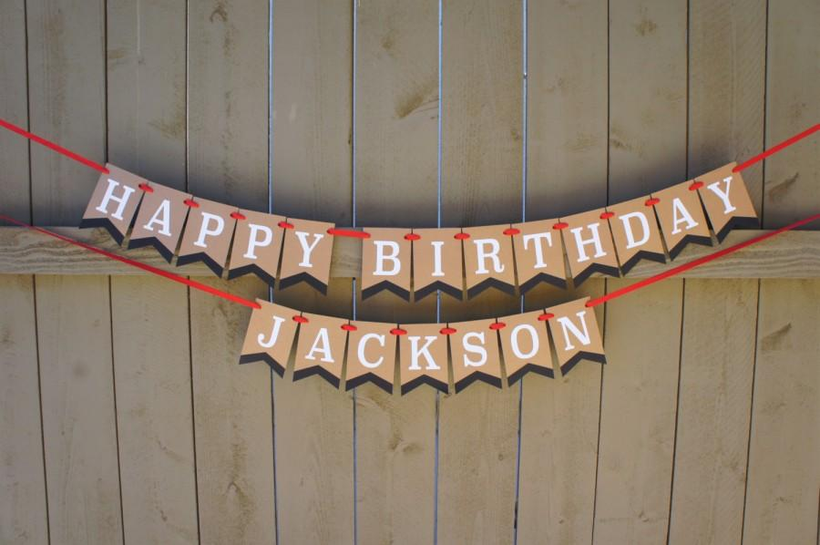 Mariage - HAPPY BIRTHDAY Customizable Personalized Double Penannt Banner / Sign