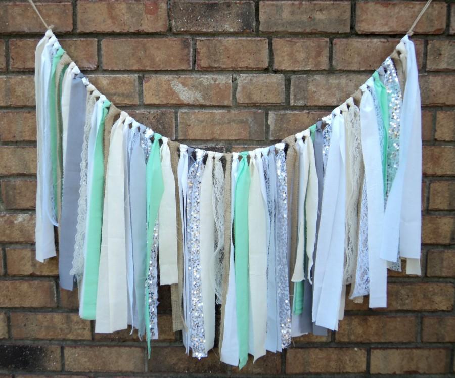 how to make a fabric garland backdrop