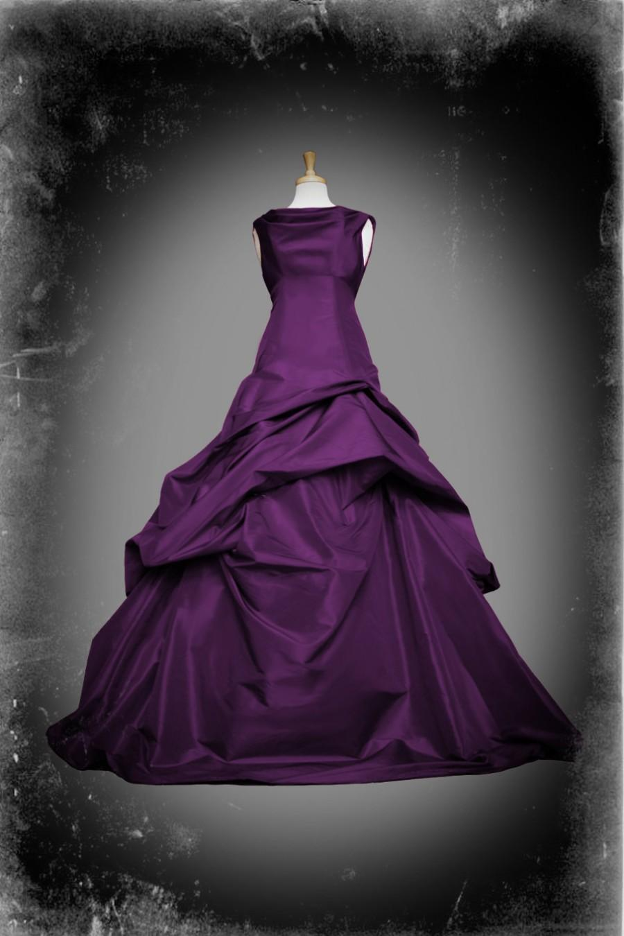 Purple Wedding Dress Gothic Ball Gown - Casey Style - Custom Made In ...