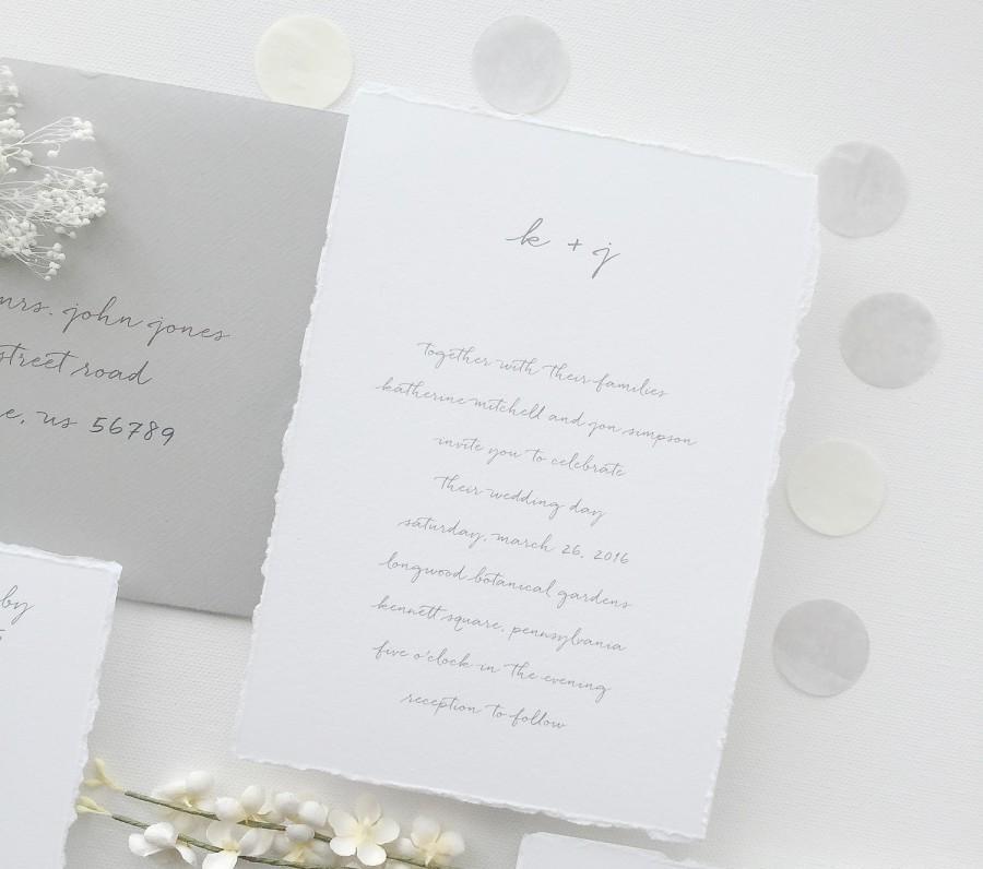 paper samples katherine simple wedding invitation save the date