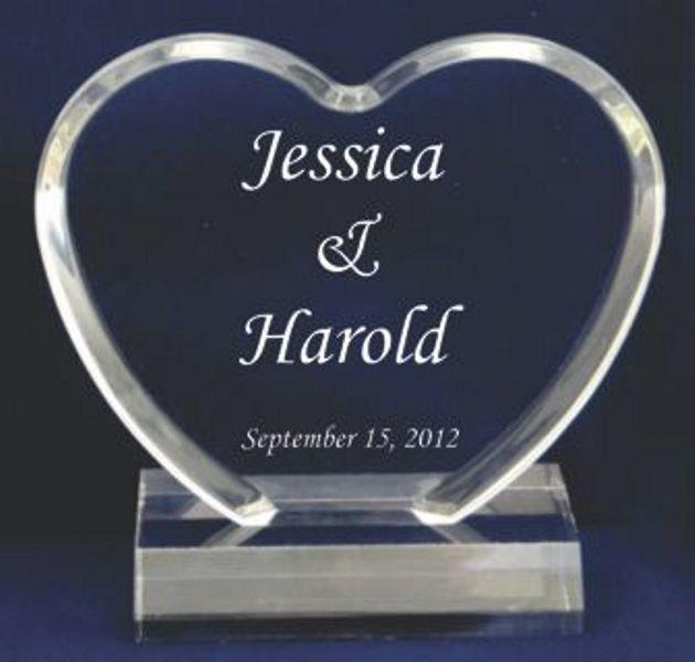 Mariage - Wedding Cake Toppers-These personalized acrylic toppers highlight your cake and serve as a wedding keepsake to display in your home forever.