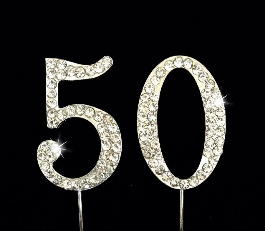 Mariage - 50th Birthday Cake Topper - 50th Anniversary Cake Topper - 1.75 Inches Tall - Cake Decoration