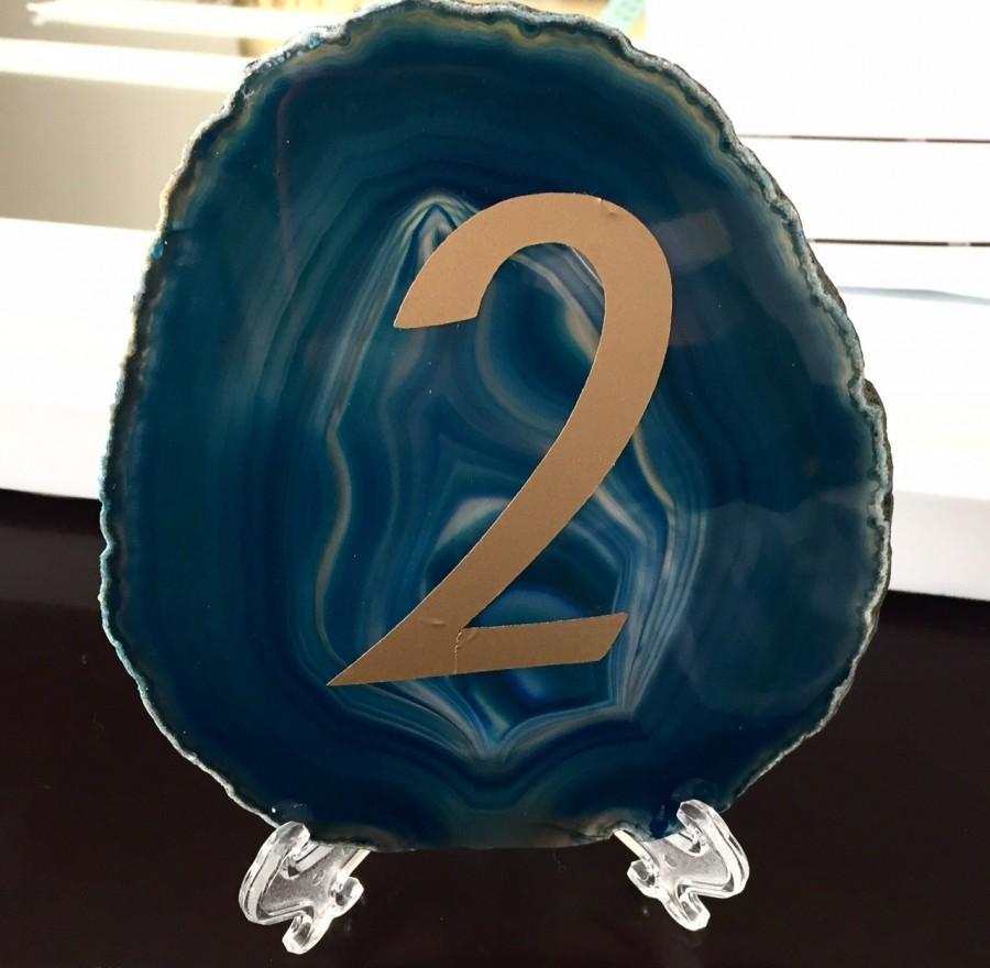 Mariage - Wedding Table Numbers - Wedding Decor - Agate - Agate Table Numbers - Modern Table Decor