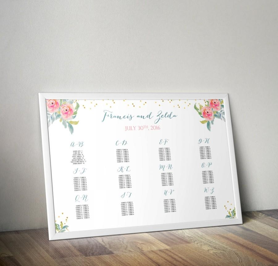 Mariage - INSTANT DOWNLOAD Wedding Seating Chart Template Pack