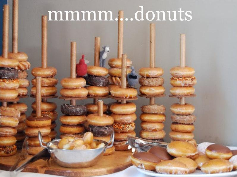 Mariage - Wedding Donut Stand, Donut Bar, Donut Display Cake Stand Holds Up To 50 Dounts