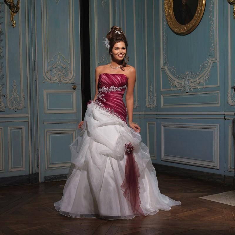 Düğün - Tomy Mariage, Oderic ivoire et berry - Superbes robes de mariée pas cher