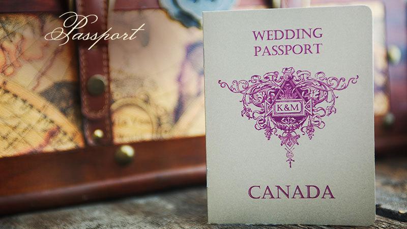 Mariage - 50 Passport Destination Wedding Invitation