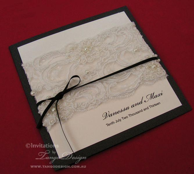 LACE Wedding Invitations VINTAGE Lace Invitation Vintage Pearl Trim Invite Rustic Country And SAMPLE