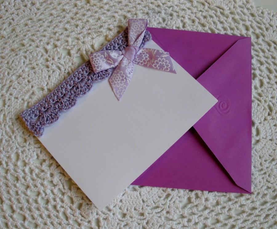 Mariage - Wedding Invitaion Crochet Cards