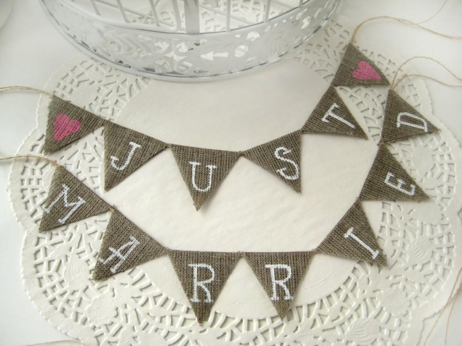 Свадьба - Just Married Wedding Cake Topper Banner